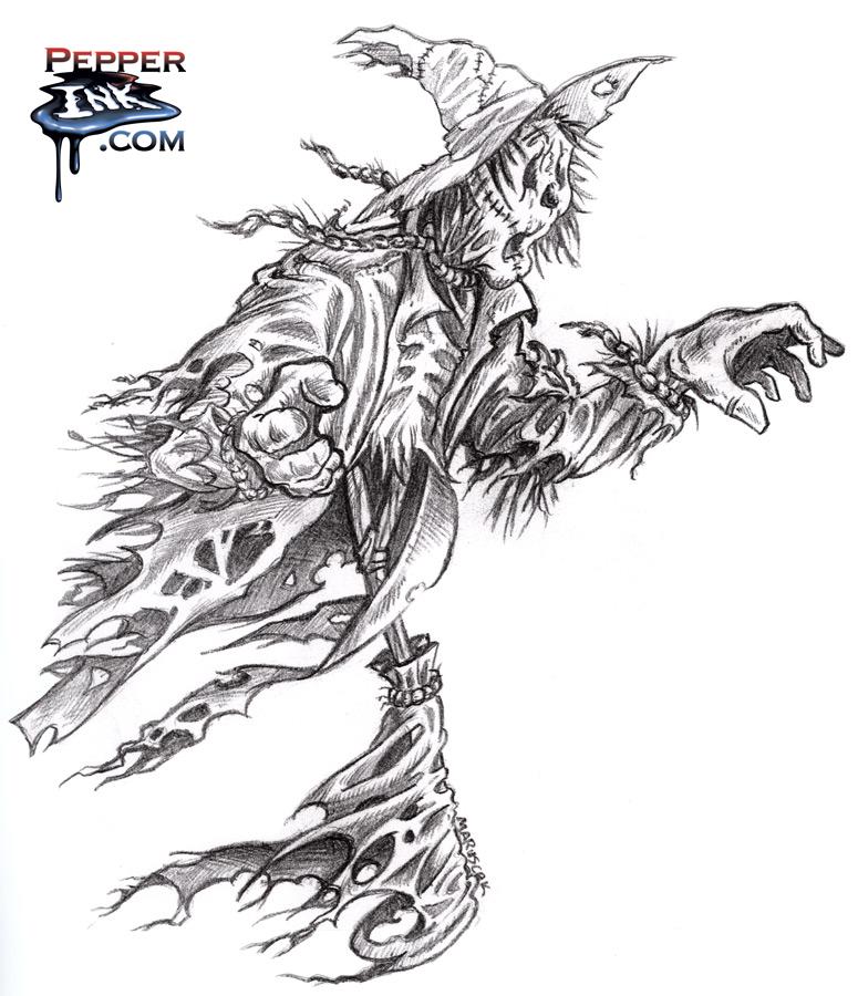 Scarecrow Pencil Sketch