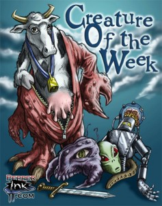 The Creature of the Week mascot entry digital colors by artist Eric Maruscak.