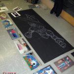 Elementary School Art Show – Captain America Chalk Mural