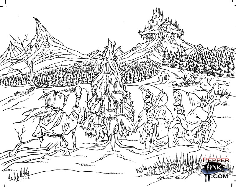 pagan yule coloring pages - photo #6