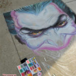 Alex Ross Chalk Art Joker