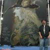 The Vampire Hunter D chalk art mural for the New York Anime 2008 convention at the Javits Center in New York City. Original painting by Yoshitaka Amano from the character created by Hideyuki Kikuchi. Chalk art by illustrator Eric Maruscak.