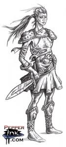 sketch_female_warrior