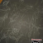 New York Comic Con Watchmen Chalk Mural