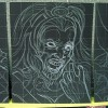 Chalk Art recreations of Greg Horn's Marvel Skulls paintings done for Marvel Comics Secret Invasion event. Chalk art at Wizard World Chicago 2008 by illustrator Eric Maruscak.