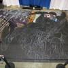 The Wizard World Philadelphia 2009 Spiderman Chalk Art Mural. Original Amazing Spider-Man 600 illustration by Joe Quesada. Chalk art by illustrator Eric Maruscak.