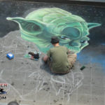 Star Wars Chalk Art featuring Yoda