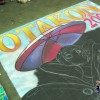 The Otakon 2009 Convention chalk mural. Original anime art by Udon Entertainment. Chalk art mural by illustrator Eric Maruscak.