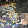 The Soul Eater Chalk Art Mural at the 2009 New York Anime Festival. Mural by Illustrator Eric Maruscak. Soul Eater distributed by FUNimation.