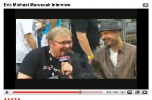 The pwndcast.com interview with artist, illustrator and chalk mural creator Eric Maruscak at the Chicago Comic Con.