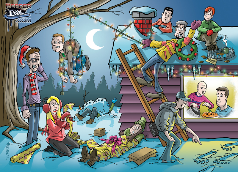 Cartoonist Eric Maruscak created the ReedPop 2013 Christmas Card.