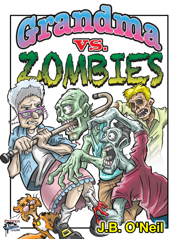 Grandma vs. Zombies book cover, with art by Illustrator Eric Maruscak