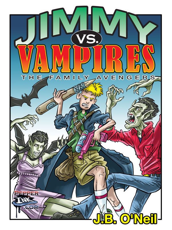 Jimmy vs. Vampires book cover, with art by Illustrator Eric Maruscak