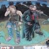 Sumi and Kei, graphic novel characters created in chalk by illustrator and artist Eric Maruscak.