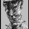 Almost Daily Sketch Number Two by Illustrator and Cartoonist Eric Maruscak. Digital drawing in Corel painter of a Frankenstein inspired monster.