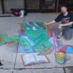 Splish Splash Reading Bash Anamorphic Chalk Drawing