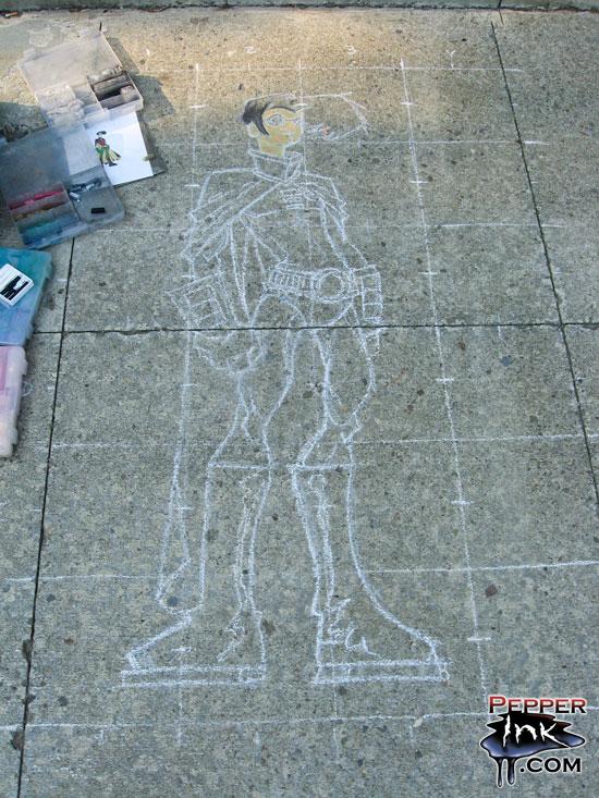 Library Chalk Art Class 2007 Robin From Teen Titans