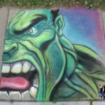 Library Chalk Art Class 2008 – The Incredible Hulk