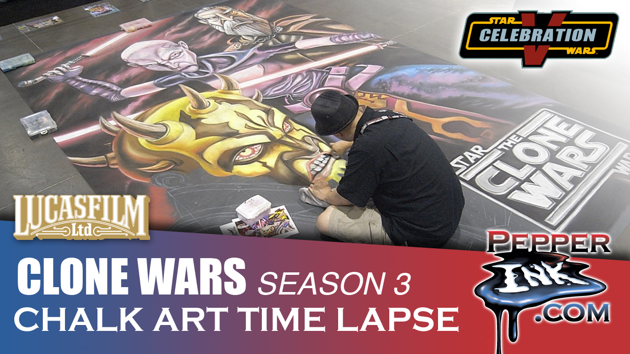 Star Wars Clone Wars Season 3 Chalk Art Thumbnail