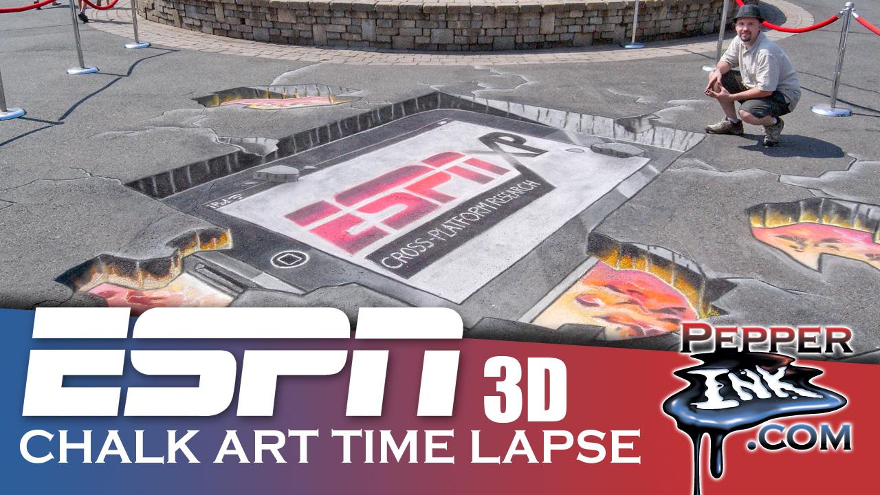 ESPN 3D Chalk Art Thumbnail