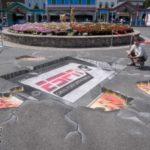 ESPN 3D Chalk Art at Lake Compounce Amusement Park