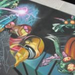 PAX 2010 and the Metroid: Other M Chalk Mural