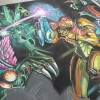 Artist and Illustrator Eric Maruscak creates a Metroid Other M chalk mural for Nintendo of America at the Penny Arcade Expo in Seattle Washington.