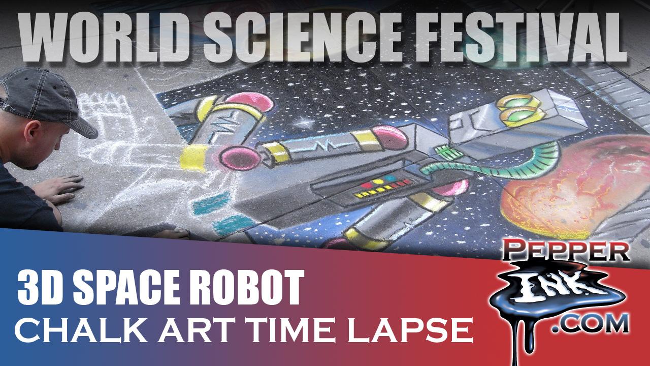 World Science Festival 3D Chalk Art