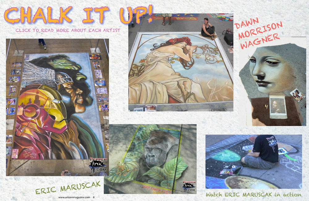 Eric Maruscak Chalk Art Magazine Article