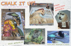 Artizen magazine Chalk Art Article featuring the art of Eric Maruscak from Pepperink.com