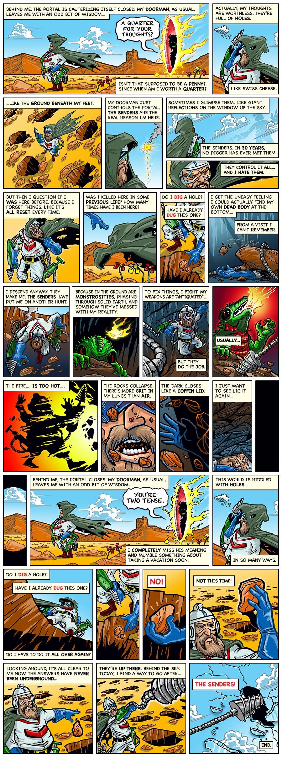 Dig Dug Cartoon Anniversary Web Comic