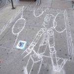 World Science Festival Photos – 3D Chalk Art Robot