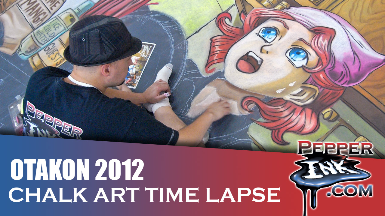 Otakon 2012 Anime Chalk Art Thumbnail
