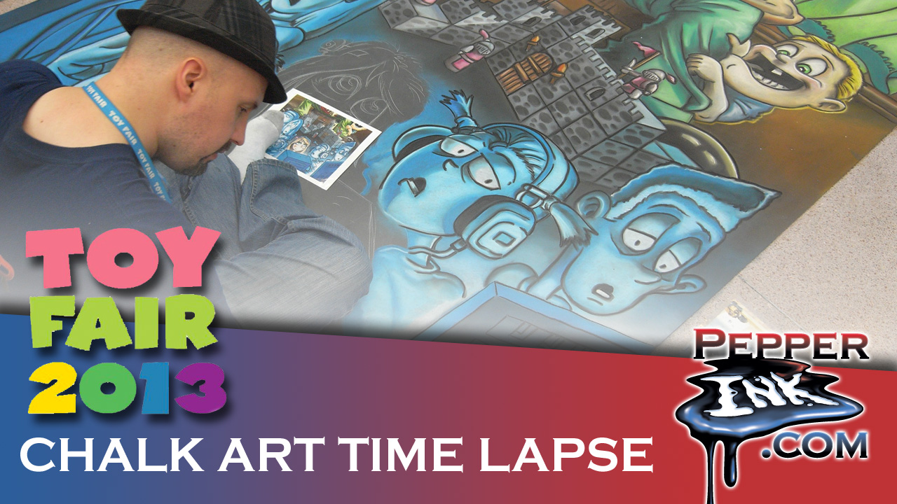 International Toy Fair 2013 Chalk Art Thumbnail