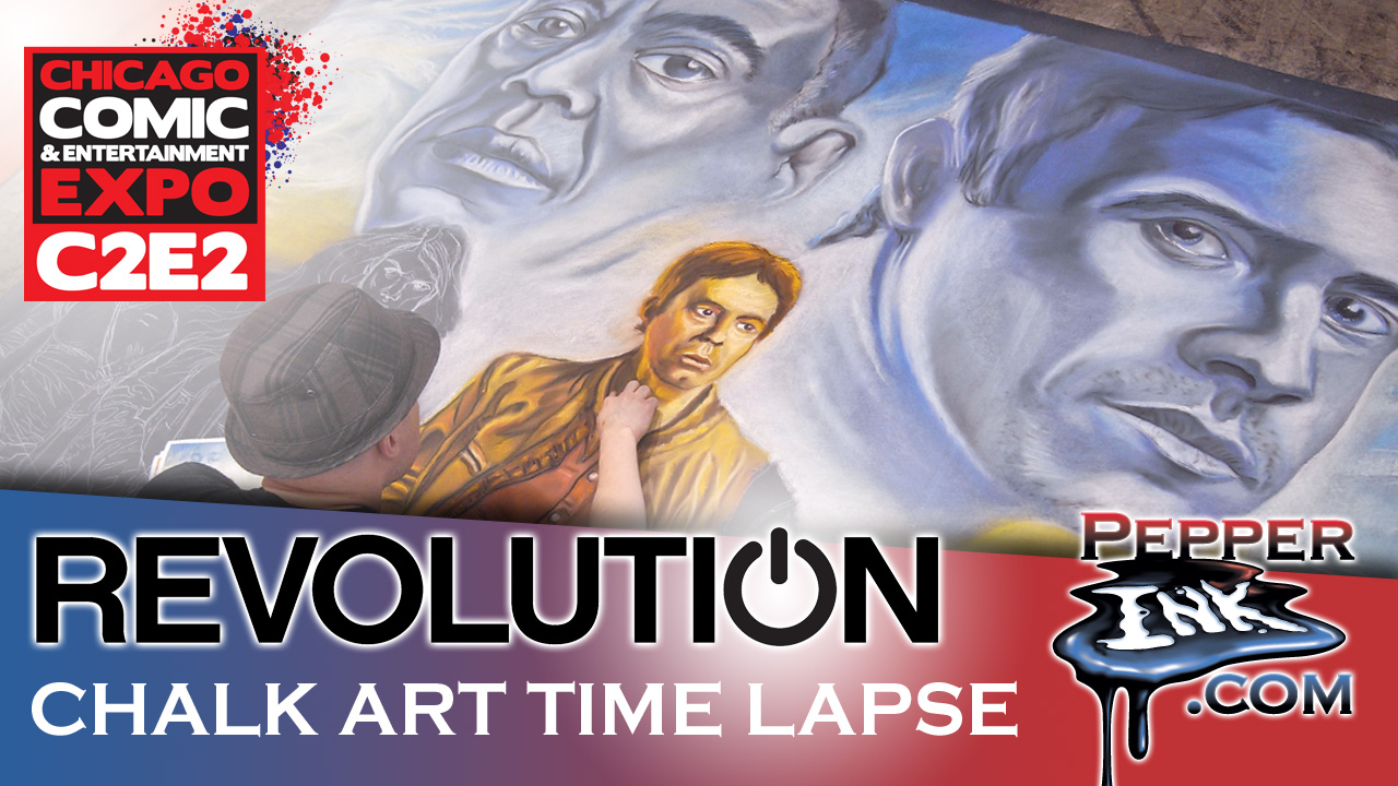 C2E2 Revolution Chalk Art Thumbnail