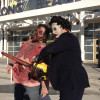Leatherface and a zombie outside the Long beach Comic Con.
