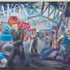 Chalk art for Otakon 2013 by artist Eric Maruscak.