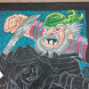 Pirate chalk art progress at the 2014 Toy Fair.