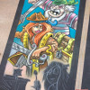Almost done with the Toy Fair 2014 Pirate chalk art.