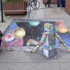 2012 International Science Festival chalk art by illustrator Eric Maruscak.