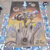 The finished Rocket Raccoon #1 chalk art by illustrator Eric Maruscak.