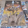 Chalk art for the Little Falls art festival. The cover of Rocket Raccoon #1. Original art by Skottie Young, chalk art by illustrator Eric Maruscak.