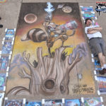 Chalk Recreation of Skottie Young Rocket Raccoon Art