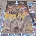 Chalk Recreation of Skottie Young Rocket Raccoon Art