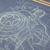 Captain America outline in chalk by illustrator Eric Maruscak.