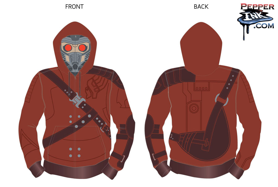 Star Lord Hoody design for Marvel at San Diego Comic Con by illustrator Eric Maruscak.
