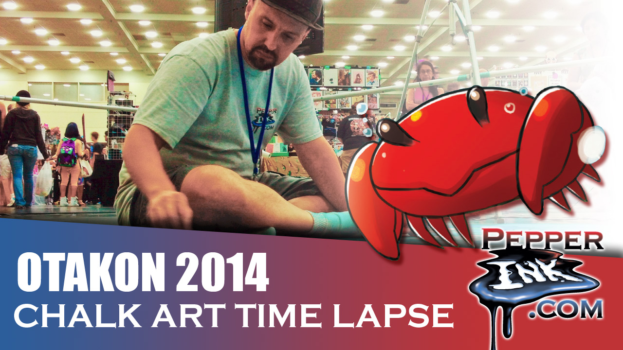 Otakon 2014 Space Themed Anime Chalk Art Time Lapse Thumbnail