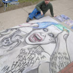 Jared Leto Joker Chalk Art