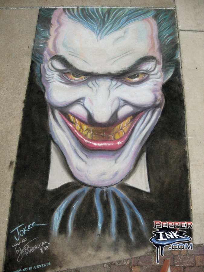 Alex Ross Chalk Art Joker Pepperink Com