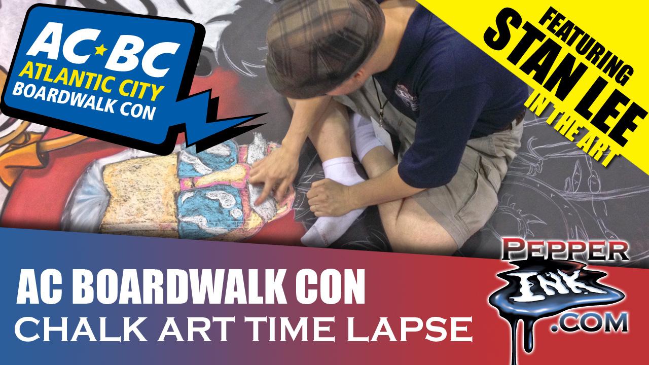 Skottie Young Stan Lee Chalk Art Time Lapse